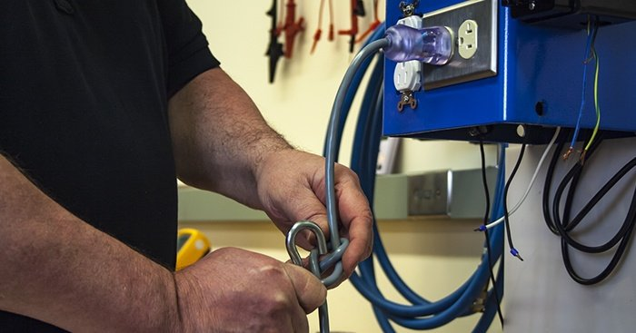 Hospital-grade cord drop test